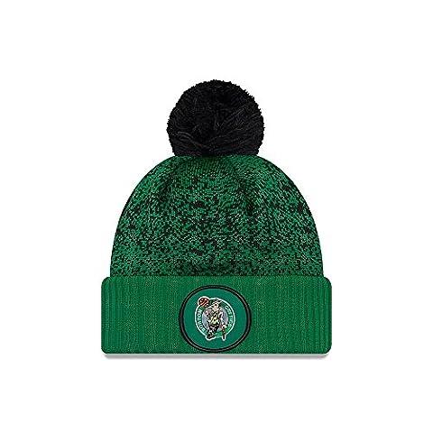 New Era Boston Celtics NBA '17 Pom Beanie Chapeau, green/black