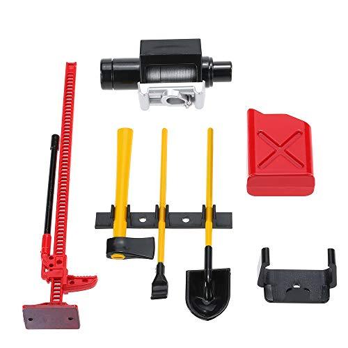 TianranRT 6Pcs 10008 RC Dekoration Werkzeug Set Kit RC Zubehör für 1: 10 RC Rock Crawler Keychain Remote Kit