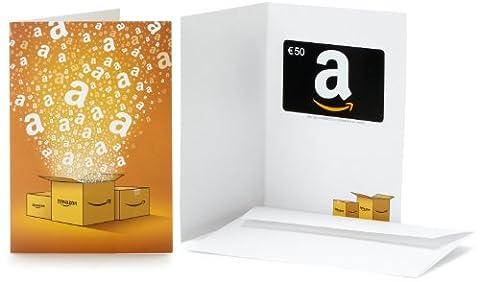 Carte cadeau Amazon.fr - €50 - Dans une carte de vœux Amazon