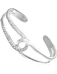 Fashionvictime - Bracelet Femme - Argent Plaqué Rhodium - Cubic Zirconium (Cz) - Bijou