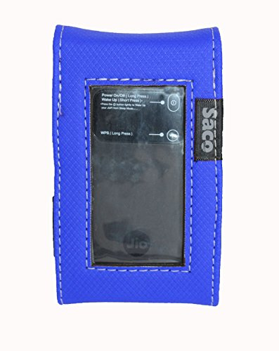 Saco Pouch for Reliance JioFi3 4G Hotspot LTE Mifi-Wifi Personal Hotspot Router-(Blue)  available at amazon for Rs.180