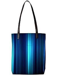 646c0681f9f5 Snoogg Dark And Lite Blue Design Womens Digitally Printed Utility Tote Bag  Handbag Made Of Poly