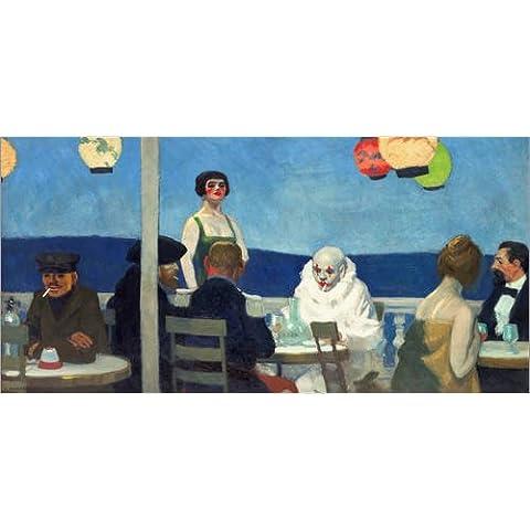 Poster 100 x 50 cm: soir bleu di Edward Hopper - stampa artistica professionale, nuovo poster