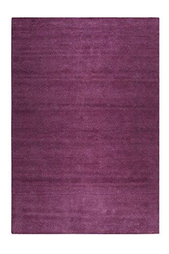 b Kurzflor Teppich/Läufer aus Chenille- Baumwolle für Wohnzimmer, Flur, Schlafzimmer I Maya Kelim I ESP-6019-04 I Lila Violett I (130 x 190 cm) ()