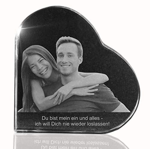 VIP-LASER 2D Gravur Glasherz XL mit Deinem Partnerfoto von Deinem Freund oder Freundin. Dein Wunschfoto für die Ewigkeit Mitten in Glas! Groesse XL =...