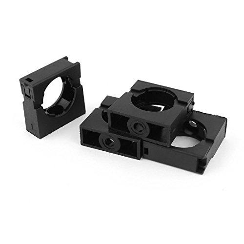 Preisvergleich Produktbild sourcingmap® 4 Stück schwarz befestigt Schellen Rohrschellen Klemmung 28.5mm Od. Wellrohr de