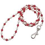 Yinew Pet Hund Leinen Puppy Perlen Pearl Leine Traction Ziehen Seil, acryl, rot, Siehe Produktbeschreibung