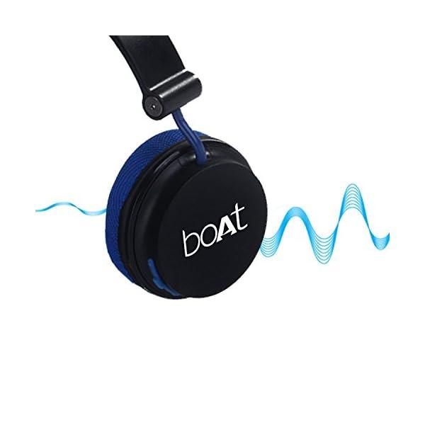 3d6a4bf6ee4 Boat Super Bass Rockerz 400 Bluetooth On-Ear Headphones with Mic  (Black/Blue)