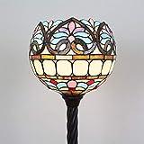 Gweat Tiffany Lámpara de pie del Globo Barroco Floral de 12