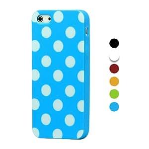 iProtect TPU Schutzhülle iPhone 5 5s Hülle gepunktet weiß und blau