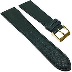 Miami Replacement Band Watch Band kalf nappa Strap dark green 22552G, width:13mm