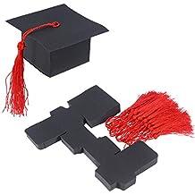 BESTOYARD 50pcs Graduation cap Candy Box Regalo di Laurea Caramelle di  Carta Scatoletta di Zucchero Biscotto e97554c574d4