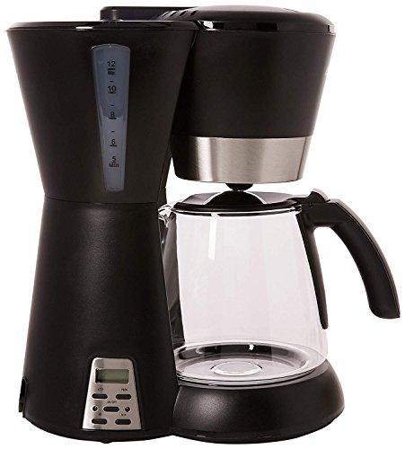 BESTEK Caffettiera Elettrica Macchina da Caffè Americano Espresso 12 Tazze, Caffettiera Programmabile Antigoccia con Timer, 1.5L-1000W, Nero