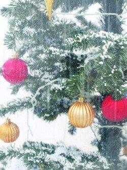 Europalms Albero Di Natale Con Neve Che Scende Completo Di