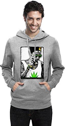 Wiz Khalifa Hart Arbeiten Work Hard Play Hard Men Hoodie Sweatshirt Stylish Fashion Fit Custom Apparel by XX-Large (Hoodie Hard Play Work Hard)