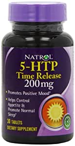 Natrol 5-HTP Timed Release 200mg - Pack of 30 Tablets
