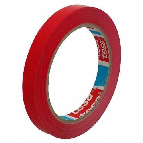 12 Stk. Klebeband Markierungsband tesafilm 4204 PVC, 12mmx66m, rot / Ideal für Tischabroller und Beutelverschlußmaschinen