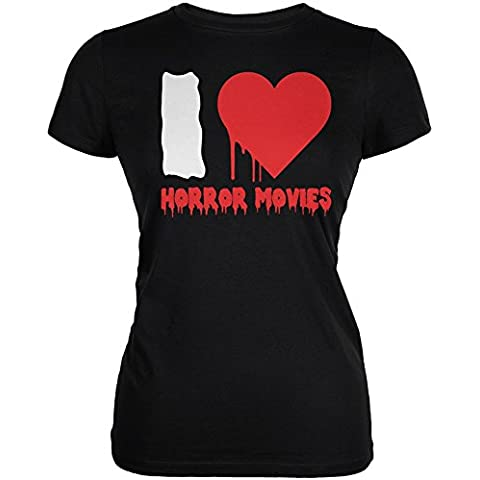 Halloween che Horror Movies Juniors nera morbida t-shirt di cuore I