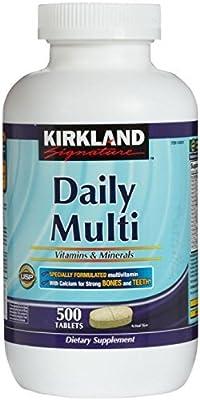 Kirkland Daily Multi Vitamins & Minerals - 500 Tablets from US Nutrition Ltd