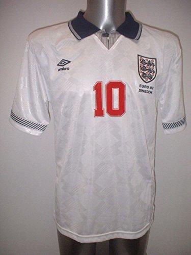 England Euro 1992Gary Lineker Home Retro Shirt Jersey BNWT Erwachsene groß Fußball Baumwolle Radsport Trikot Leicester City Barcelona Everton World Cup Italien Italia Tottenham Hotspur
