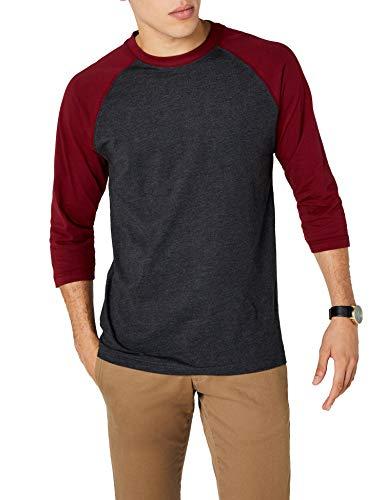 Urban Classics TB366 Herren 3/4 Sleeve Bekleidung T-Shirt, Mehrfarbig (Cha/Burgundy), M - Armee Ein T-shirt