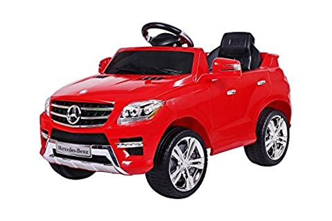 Mercedes ML 2x 30W Voiture Electrique pour Enfant avec Entrée MP3, Farbe:Rot