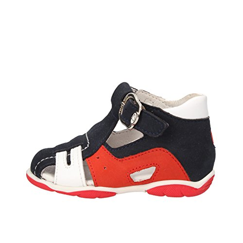 BALDUCCI 18 EU sandali bambino blu pelle scamosciata rosso pelle AF341