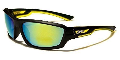 X-Loop Sportbrille gelb Unisex Damen Herren Sport Sonnenbrille Kunststoff mit Brillenbeutel