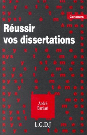 Réussir vos dissertations
