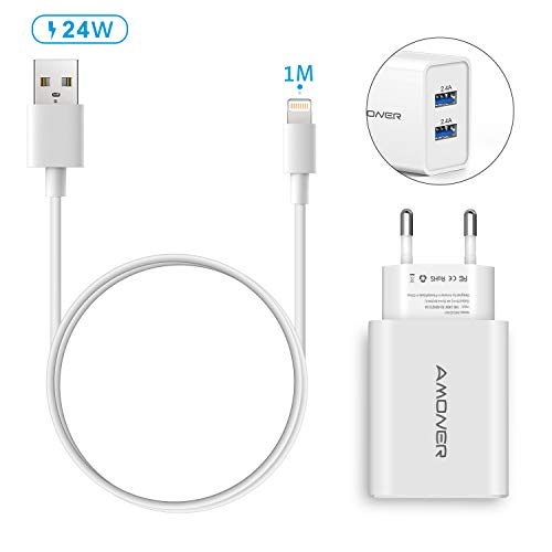 Amoner Ladekabel für iPhone Lightning Kabel und