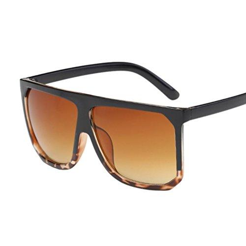Donne uomini vintage piazza telaio bicchieri unisex moda aviatore specchio lente occhiali da sole retro eyewear metallo piazza occhiali viaggiare sunglasses (a)