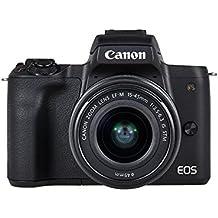 Canon EOS M50 + EF-M 15-45mm f/3.5-6.3 IS STM + EF-M 55-200mm f/4.5-6.3 IS STM SLR Camera Kit 24.1MP CMOS 6000 x 4000pixels Black - Digital Cameras (24.1 MP, 6000 x 4000 pixels, CMOS, 4K Ultra HD, Touchscreen, Black)
