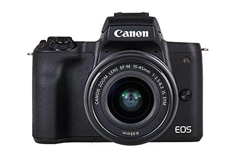 Canon EOS M50 + EF-M 15-45mm f/3.5-6.3 IS STM + EF-M 55-200mm f/4.5-6.3 IS STM Kit fotocamere SLR 24.1MP CMOS 6000 x 4000Pixel Nero