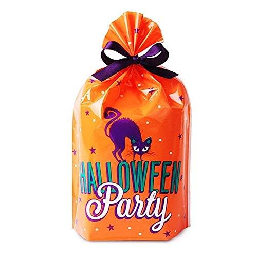 King Boy Baby Kostüm - WSCOLL 10 Stücke Nette Kürbis Halloween Candy Taschen Geschenkpakete Cookies Kekse Süßigkeiten Plastiktüte Für Hochzeit Halloween Party Supplies 14X20 cm A