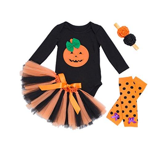 Sronjn Bambino inverno zucca Halloween pagliaccetto neonato Body Costume abiti Stile 1