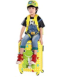 AASA Kids Travel Luggage Trolley Bags Cartoon Printed Luggage Suitcase With Trolly 4 Wheels For Children Tourist...