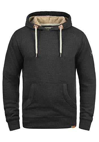 !Solid TripHood Pile Herren Kapuzenpullover Hoodie Sweatshirt mit Teddyfutter aus Hochwertiger Baumwollmischung Meliert, Größe:L, Farbe:D Gre Pil (P8288) -