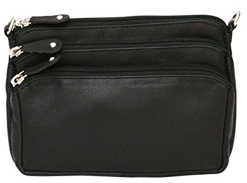 Felda - borsa donna da viaggio con tracolla - vera pelle - nero nero