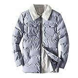 Manadlian Herren Steppjacke Übergangsjacke Jacke mit Stehkragen Vlies Mantel Light Daunen Jacke Winter Warm Jacken