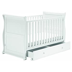 East Coast Nursery Alaska Sleigh Cotbed (White)   1