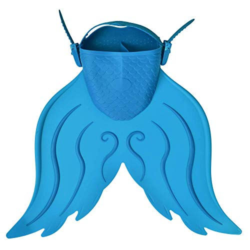 AYUE® Mermaid Kids Aletas de Natación Aletas de Entrenamiento Aletas, Buceo Flexible Aletas de Natación Snorkel Aletas para Niños Chicas Niños,Blue