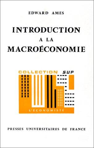 Introduction à la macroéconomie, 1ère édition