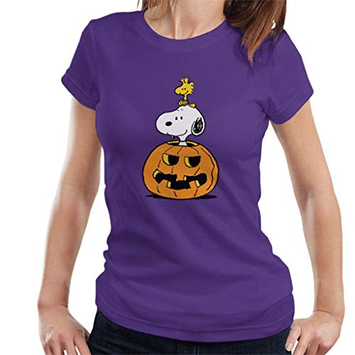 Peanuts Halloween Snoopy and Woodstock Women's T-Shirt