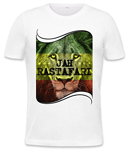 Jah Rastafari Mens T-shirt X-Large (Jamaica Mens Tee)