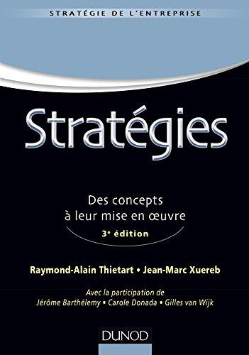 Stratgies - 3e d - Des concepts  leur mise en oeuvre