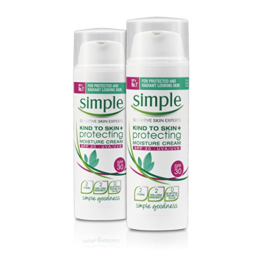 Simple Kind To Skin+ Protecting Moisture Cream SPF30, Pack of 2 x 50ml