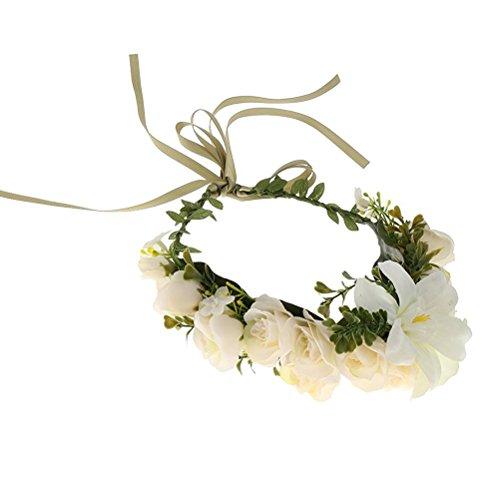 ULTNICE Blumen Kranz Stirnband Krone Blumengirlande Haare Hochzeit für Festival