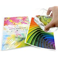 10 Sheets Quality White Waterproof A4 Vinyl Matt Sticky Self Adhesive Laser Printable preiswert