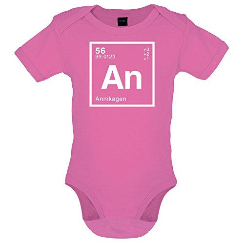 Annika Periodensystem - Lustiger Baby-Body - Bubble-Gum-Pink - 12 bis 18 Monate