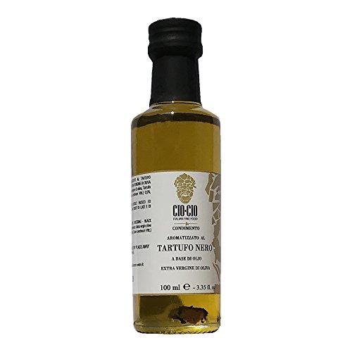 Olio extravergine di oliva al tartufo nero con scaglie 100ml